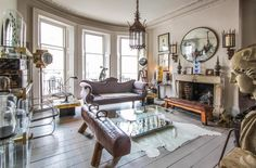 Alex MacArthur's home. Alex is an antiques dealer/ guru in London and her home also serves as her shop and showroom!