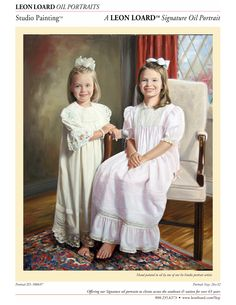 Heirloom oil painting by LEON LOARD™ Oil Portraits Staff Artist, Family (children), Studio Painting, 500697