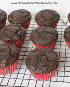 The Ultimate Chocolate Chocolate Chip Muffins-perfect with your morning coffee or as an afternoon snack. Recently recepy No Bake Desserts, Just Desserts, Delicious Desserts, Dessert Recipes, Yummy Food, Yummy Yummy, Delish, Dinner Recipes, Tasty
