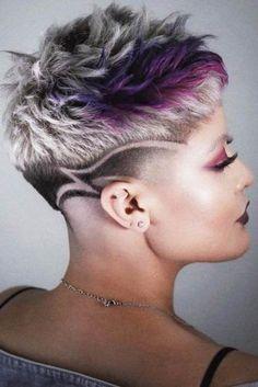 Bold And Classy Undercut Pixie Ideas That Make Heads Turn - Undercut Women, Undercut Pixie, Undercut Hairstyles, Pixie Haircut, Haircuts, Super Short Hair, Short Grey Hair, Short Hair Cuts, Short Hair Styles