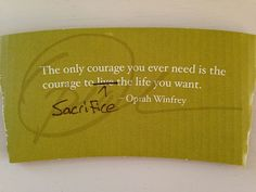The Gospel is not empty self affirmation:  a pastor edits inspirational Oprah quotes in order to mark the difference