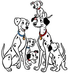 Pongo and Perdita and their Dalmatian Puppies
