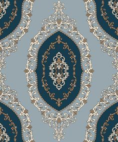 Indian ornaments and design elements vector Textile Patterns, Textile Prints, Print Patterns, Damask Patterns, Islamic Art Pattern, Arabic Pattern, Wallpapers Texture, Pattern Drawing, Pattern Art