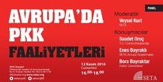 PANEL DUYURUSU : Avrupa'da PKK Faaliyetleri /// 12.11.2016 /// SETA İSTANBUL