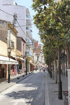 CALELLA, SPAIN - JULY 19, 2013: Streets Of Calella On July 19,.. Stock Photo, Picture And Royalty Free Image. Pic 38715330.