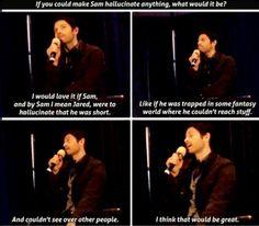Misha collins and jared padalecki