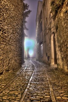 Cobbled Streets  -  Erice, Sicily, Italy |