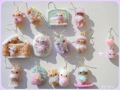 Kawaii wintern animals earrings by Bojo-Bijoux.deviantart.com on @deviantART