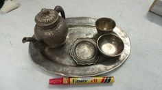 Decanter Vessels and Tray