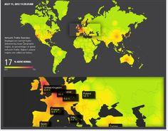 Worldmap to visualise scores for regions    http://www.akamai.com/html/technology/dataviz1.html