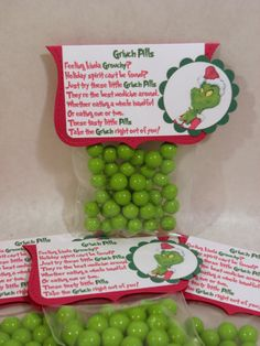 Secret Santa idea.   Grinchy Pills - for people who could use a little holiday cheer (8 pack)