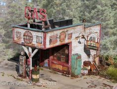 The Gas Station - O Scale/ 1:48 / On30 - Click Image to Close