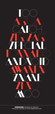 Little Black Font Book by HypeForType , via Behance
