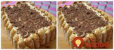Výborná torta, ktorá vyzerá ako nepečená, no pozostáva z pečeného čokoládového korpusu a tým najlepším krémom. Vyskúšajte a už nikdy nebudete váhať, čo pripraviť pre vašich oslávencov! Potrebujeme: 5 vajec 150 g práškového cukru 1 lyžicu kakaa 1 bal. prášku