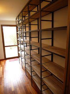 Biblioth que sur mesure bois m tal micheli design vintage home pinteres - Bibliotheque sur mesure montreal ...