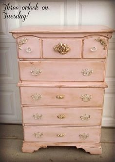 Lovely pinky painted chest