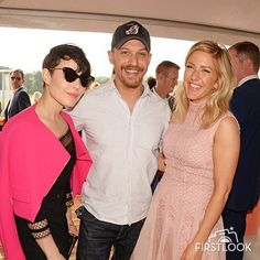 LONDON, ENGLAND - MAY 28: Noomi Rapace, Tom Hardy and Ellie Goulding attend day one of the Audi Polo Challenge at Coworth Park on May 28, 2016 in London, England.