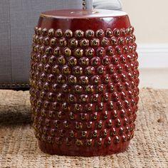 Outdoor Abbyson Emily Pierced Ceramic Garden Stool - SP-6100-ROBEGG
