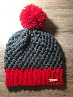 brand new 9d335 3183e Ohio State colored puff stitch beanie, ohio state buckeyes, ohio state hat, ohio  state football