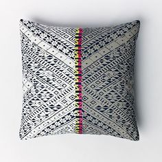 Thai Embroidered Two-Tone Pillow Cover #westelm
