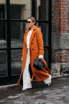 , Streetstyle на Неделе моды в Осло