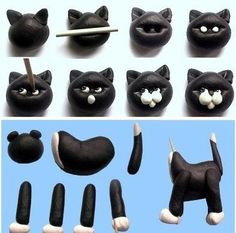 step by step fondant cat - Google Search