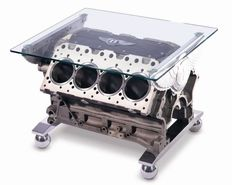 8 of the Coolest Non-Auto Uses of a Car Engine. Now this Bentley coffee table is super cool. #luxury #spon
