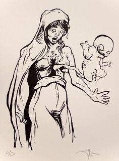 Jeff Prymowicz Art  Madonna's child.