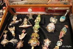 Victorian style christmas ornaments.  Venice (Italy)