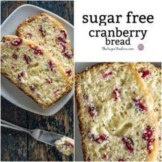 (low) Sugar Free Cranberry Bread Recipe
