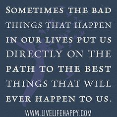 Why bad things happen quote