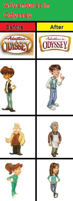 Adventures in Odyssey before and after
