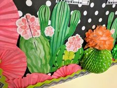 Looking for some amazing back to school bulletin board ideas? Take a look behind the scenes of a little bulletin board fun with some of yo. Class Decoration, School Decorations, School Themes, Classroom Design, School Classroom, Classroom Themes, Staff Bulletin Boards, Back To School Bulletin Boards, Cactus