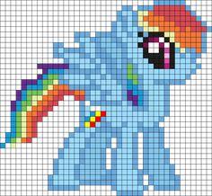 Rainbow Dash Mlp Perler Bead Pattern / Bead Sprite