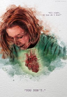 what is this beautiful heartrending immortal!scully MASTERPIECE because i can't even fanart by aliens-scully on tumblr