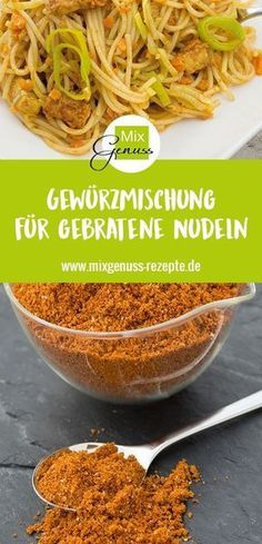 Spice mixture for fried noodles in stock – MixGenuss B … – Kitchenware Turkey Recipes, Pork Recipes, Asian Recipes, Mexican Food Recipes, Blog Vegan, Pork Cooking Temperature, Cooking With Toddlers, Cuisines Diy, Noodle Recipes
