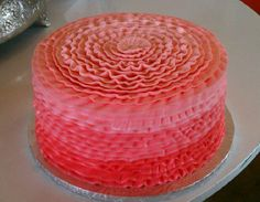 Society Bakery Ombre Cake in Corals
