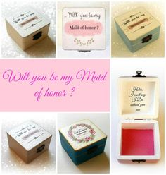 Will you be my Maid of honor gift box. Pop the question with this unique gift idea !