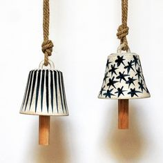 Image of XS 'Bell' Bell with Indigo Stripes & Stars Mquan $150