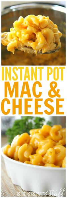 Instant Pot Mac and Cheese by Six Sisters Stuff | Easy Dinner Ideas | Family Favorite Meals | Homemade Mac and Cheese