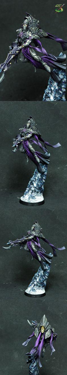 Warhammer 40k, Forgeworld Eldar - Iryllith, Phoenix Lord of the Shadow Spectres Aspect warriors