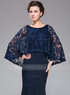 Trumpet/Mermaid Scoop Neck Floor-Length Beading Sequins Zipper Up at Side Sleeves 3/4 Sleeves No 2014 Dark Navy Fall Winter General Plus Chiffon Lace Mother of the Bride Dress
