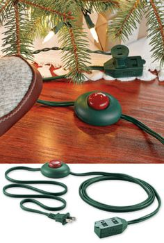 Turning on holiday lights would be easier with this 3-outlet foot tapper cord. Only $8