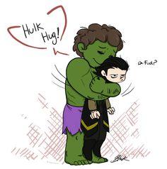 http://caycowa.deviantart.com/art/Avengers-Hulk-Hug-Loki-355340084