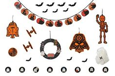 Star Wars Deluxe Decorating Kit >>> Check this awesome product by going to the link at the image. (This is an affiliate link) Halloween Party Themes, Halloween Home Decor, Diy Halloween Decorations, Halloween House, Halloween Diy, Star Wars Halloween, 31 Days Of Halloween, Star Wars Toys, Party Supplies