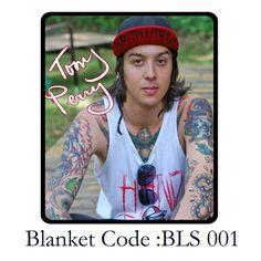 "New Tony Perry Pierce The Veil PTV Throw Fleece Blanket size 60"" X 80""Ideal Gift #Unbranded #Custom"