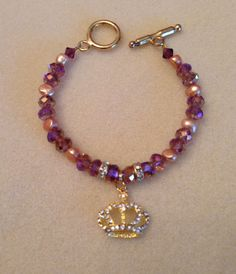 Mardi Gras Crown Bracelet Gold.... by bellissimasgifts. Explore more products on http://bellissimasgifts.etsy.com
