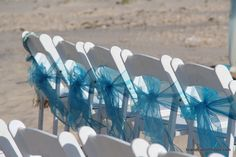 we are planning to use a few chairs ties too  www.beachbrideguides.com