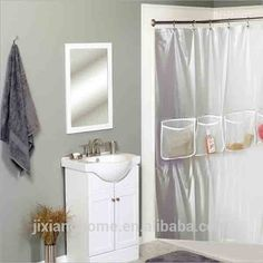 Look At This Clear Mesh Pocket Shower Curtain Liner On Zulily Today