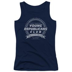"""Checkout our #LicensedGear products FREE SHIPPING + 10% OFF Coupon Code """"Official"""" Family Ties / Young Republicans Club - Juniors Tank Top - Family Ties / Young Republicans Club - Juniors Tank Top - Price: $29.99. Buy now at https://officiallylicensedgear.com/family-ties-young-republicans-club-juniors-tank-top"""